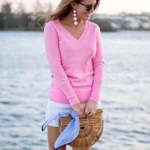 J. Crew V-Neck Cashmere Sweater, M